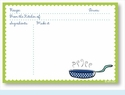 Recipe Cards - Pan w/ Lime Scalloped Border