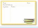 Recipe Cards - Plates w/ Yellow Scalloped Border