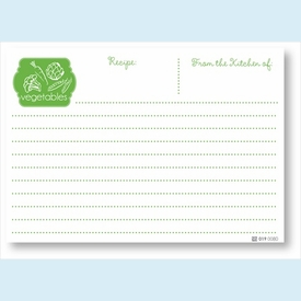 Recipe Cards - Veggies, Kelly - click to enlarge
