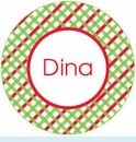Red/Green Lattice Personalized Magnet