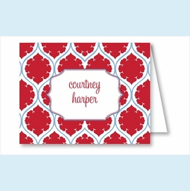 Red/Light Blue Medallion Note Cards - click to enlarge
