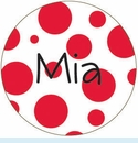 Red Spots Personalized Magnet