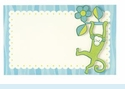 Riley Monkey Glitter Invitation
