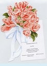 Rose Bouquet Tied w/Card Invitation