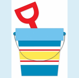 Sand Pail and Shovel Invitation - click to enlarge