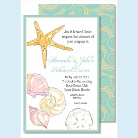 Sea Shells Large Flat Invitation - click to enlarge