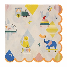 Silly Circus Napkins - click to enlarge