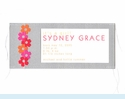 Silver Stitched Flowers Invitation