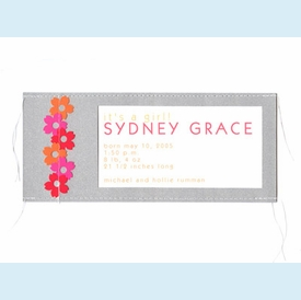 Silver Stitched Flowers Invitation - click to enlarge