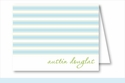 Simple Blue/Lime Stripes Note Cards