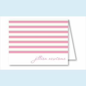 Simple Pink/Lime Stripes Note Cards - click to enlarge