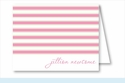 Simple Pink/Lime Stripes Note Cards