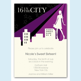 Sixteen in the City Invitation - click to enlarge