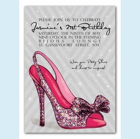 Sparkle Party Pump Invitation - click to enlarge