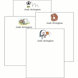 Sports 119 Cute Collections Notepad Set - click to enlarge