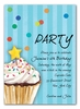 Sprinkles and Confetti Invitation (Blue)