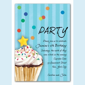 Sprinkles and Confetti Invitation (Blue) - click to enlarge