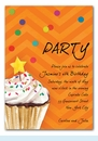 Sprinkles and Confetti Invitation (Orange)