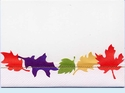 Stitched Fall Leaves Invitation