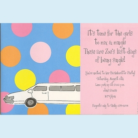 Stretch Limo Invitation - click to enlarge