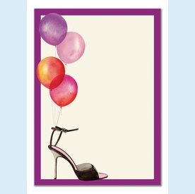 Stylish Party Balloons Invitation - click to enlarge