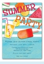 Summer Essentials Invitation (Blue)
