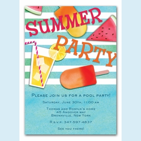 Summer Essentials Invitation (Blue) - click to enlarge