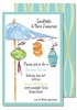 Summer Lanterns Large Flat Invitation