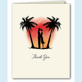 Sunset Sweethearts Thank You Notes - click to enlarge