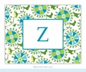 Suzani Teal Folded Notes (set/25)