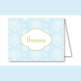 Sweet Blue Floral Note Cards - click to enlarge