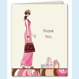 Swirl Bride Thank You Notes - click to enlarge
