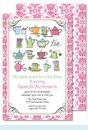 Tea Time Large Flat Invitation