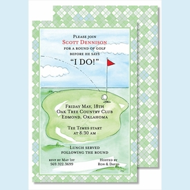 Tee Time Large Flat Invitation - click to enlarge
