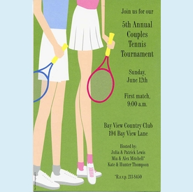 Tennis Legs Invitation - click to enlarge