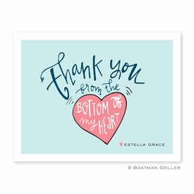 Thank You Heart Folded Notes (set/25) - click to enlarge