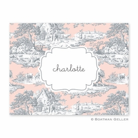 Toile Gray & Blush Folded Notes (set/25) - click to enlarge