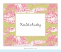 Toile Magenta & Green Folded Notes (set/25)