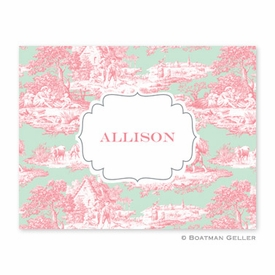 Toile Melon & Mint Folded Notes (set/25) - click to enlarge