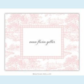 Toile Pink Folded Notes (set/25) - click to enlarge
