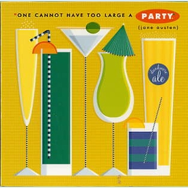 Too Large a Party Square Magnet - click to enlarge