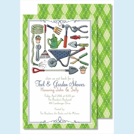 Tool & Garden Large Flat Invitation - click to enlarge