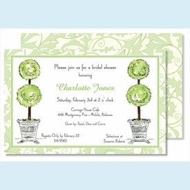 Topiaries Large Flat Invitation - click to enlarge