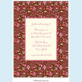 Treetop Pink Invitation - click to enlarge