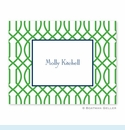 Trellis Reverse Kelly Folded Notes (set/25)