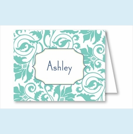 Turquoise Floral Vine Note Cards - click to enlarge