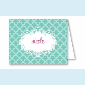 Turquoise Scallop Note Cards - click to enlarge