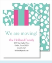 Turquoise Willow w/ Hot Pink/Turquoise Stripe Small Flat Cards