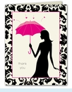Umbrella Love Thank You Notes