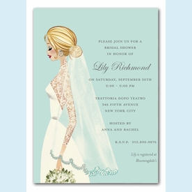 Vintage Veil Invitation - click to enlarge